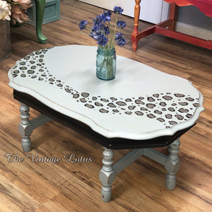 Custom Leopard Print Table
