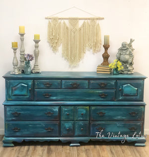 Beautiful Vintage Boho Buffet or Dresser