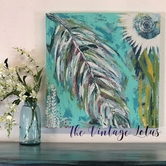 "Original Intuitive art ""Light as a Feather"""
