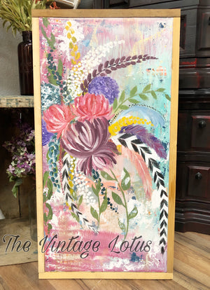 Original BoHo Eclectic Bouquet Painting
