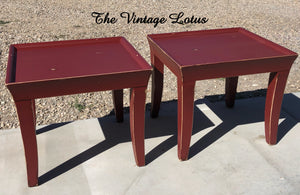 Rustic Barn Red Side Tables