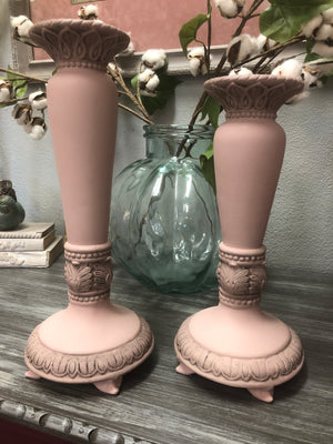 Beautiful Blush Candle Sticks