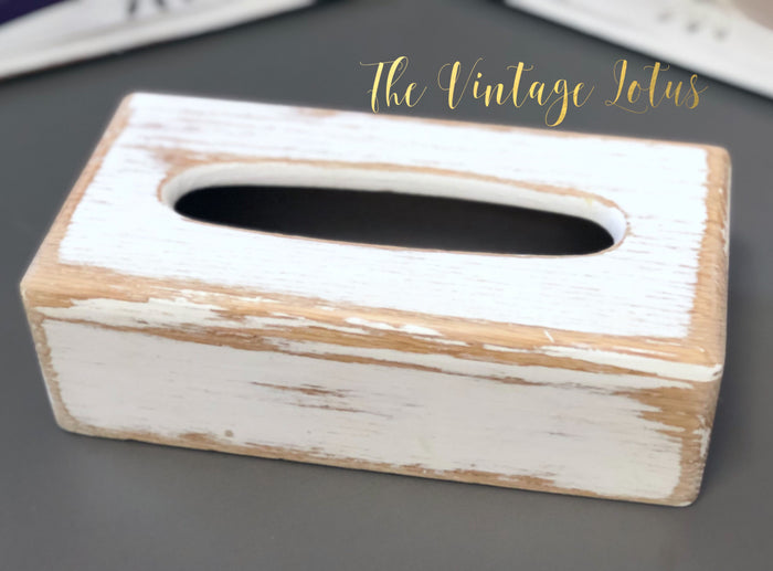 Farmhouse Wood Tissue Box