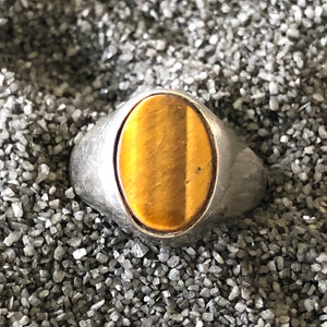 Vintage Tiger Eye Sterling Ring