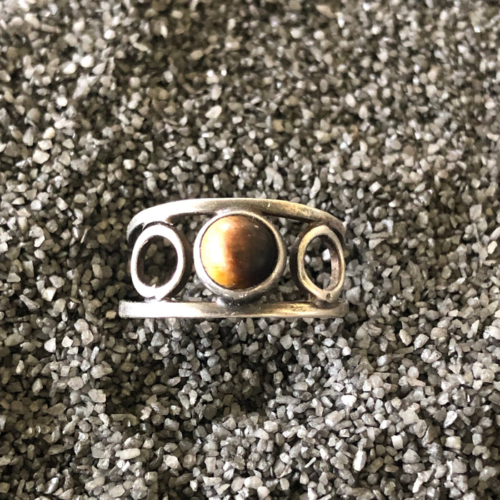 Vintage Sterling Tigers Eye Ring