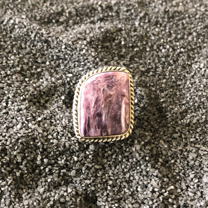 Gorgeous Unique Purple Stone Ring