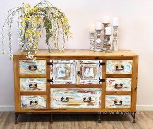 Custom Rustic BoHo Farmhouse Buffet Consul