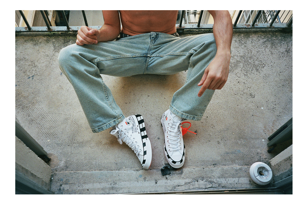 Cruising in Converse x Off-White
