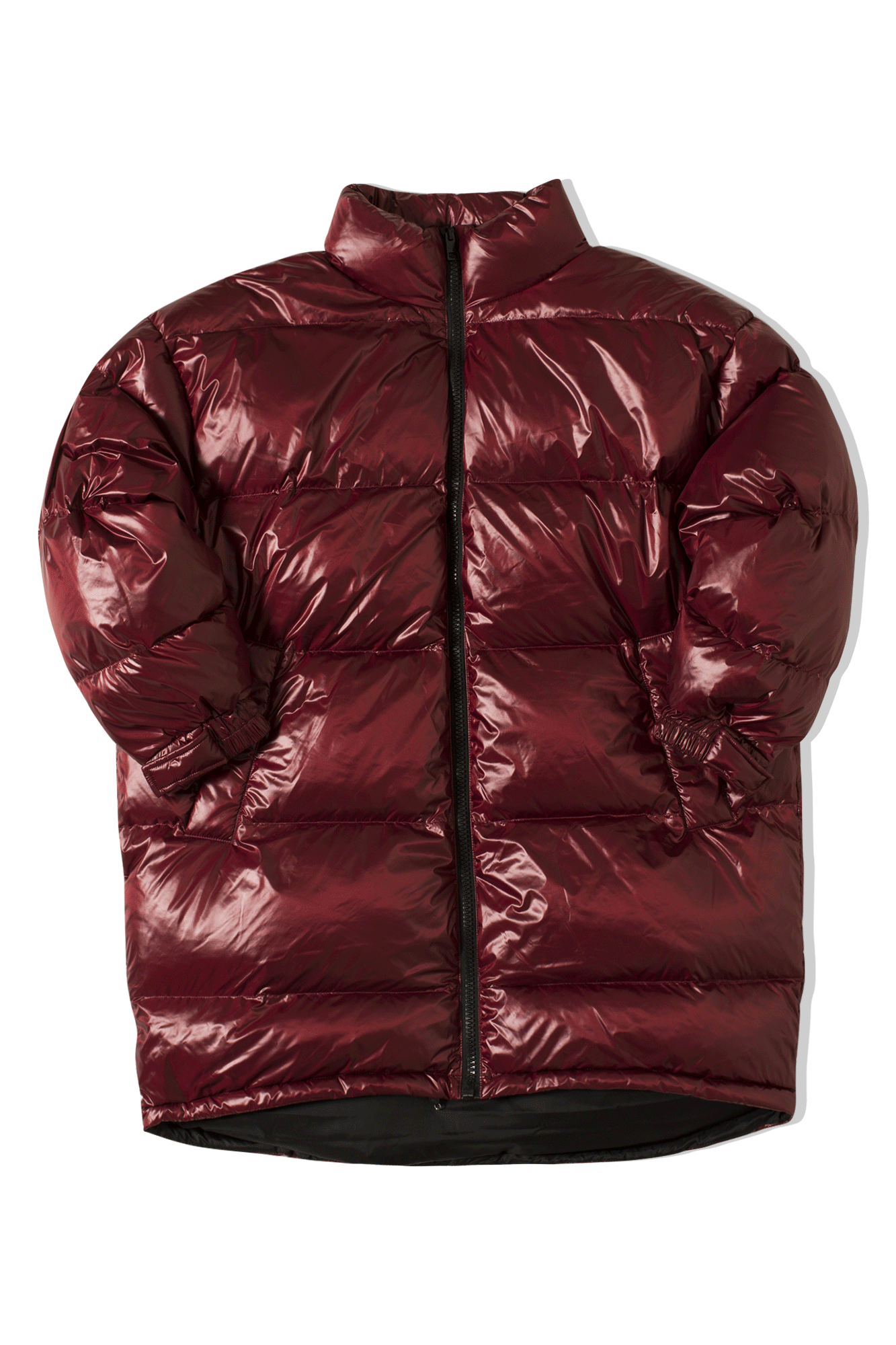 Doug Denovits Over Quilted Jacket Red
