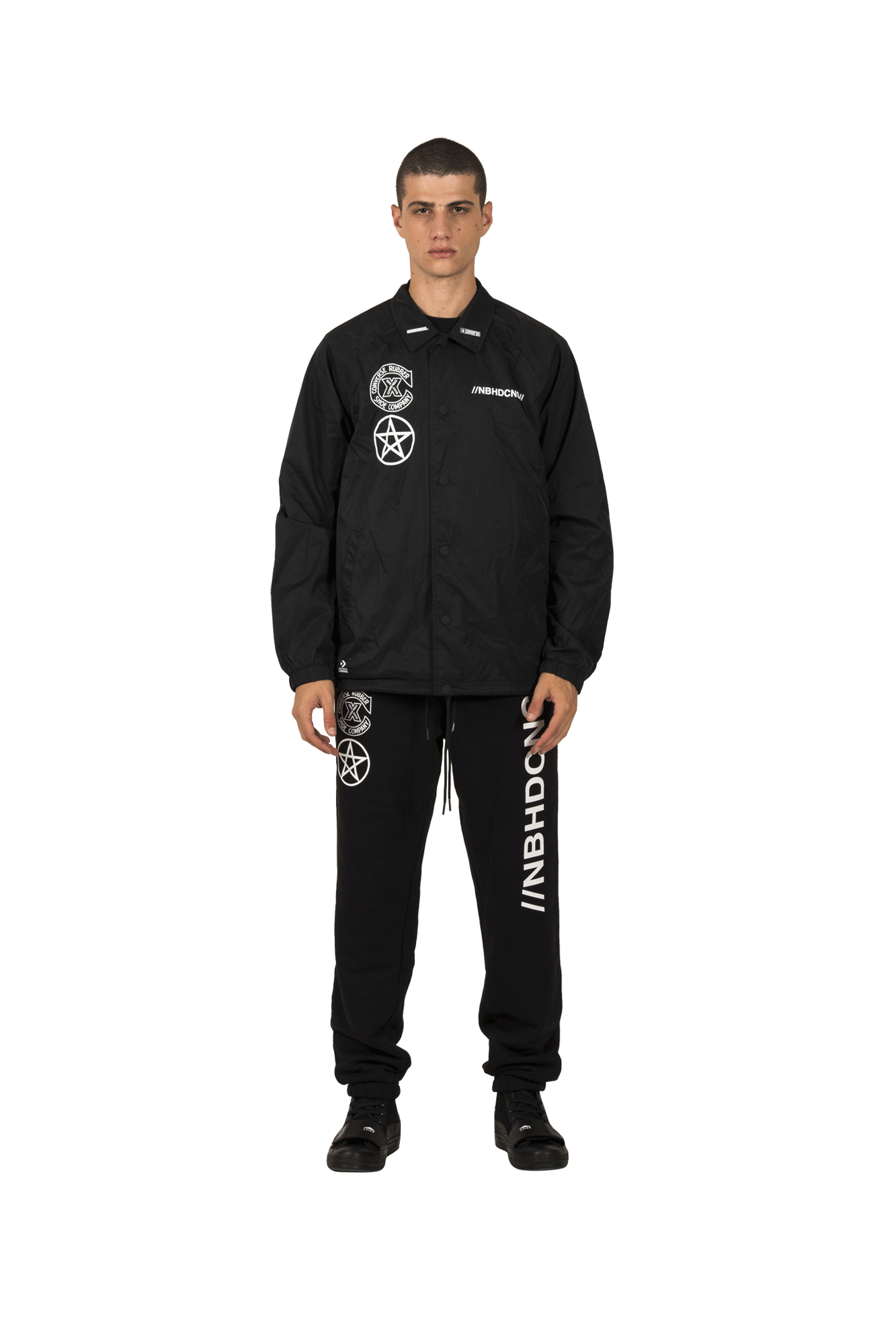 Coaches Jacket x Neighborhood Black