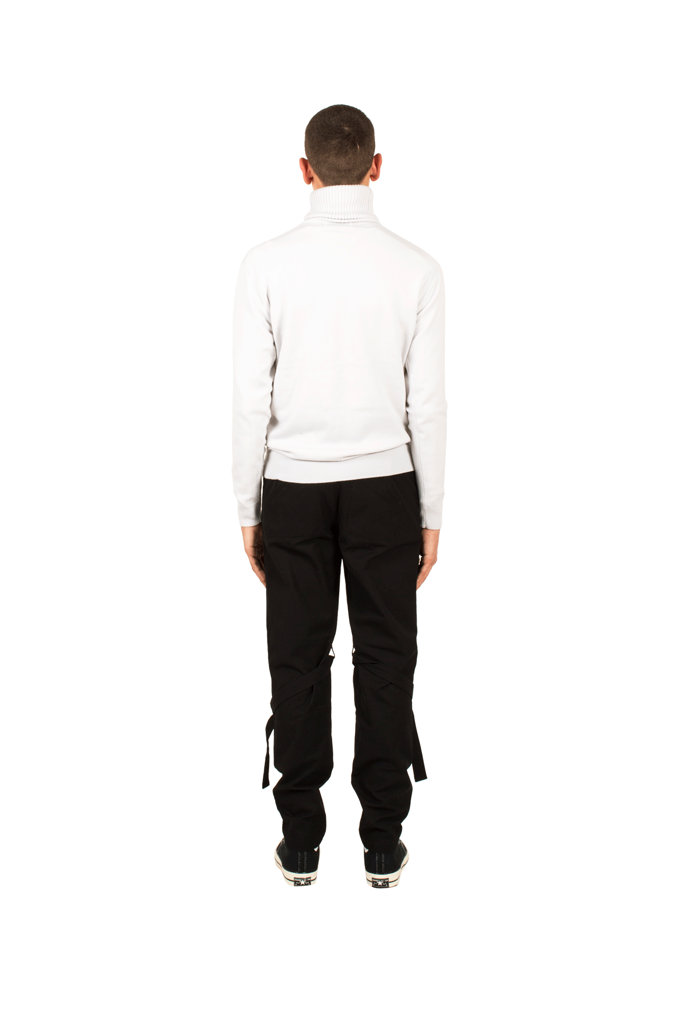 Ambush Knitwear Turtle Neck Emboss Knit White 12111826#000#WHT#1 - One Block Down