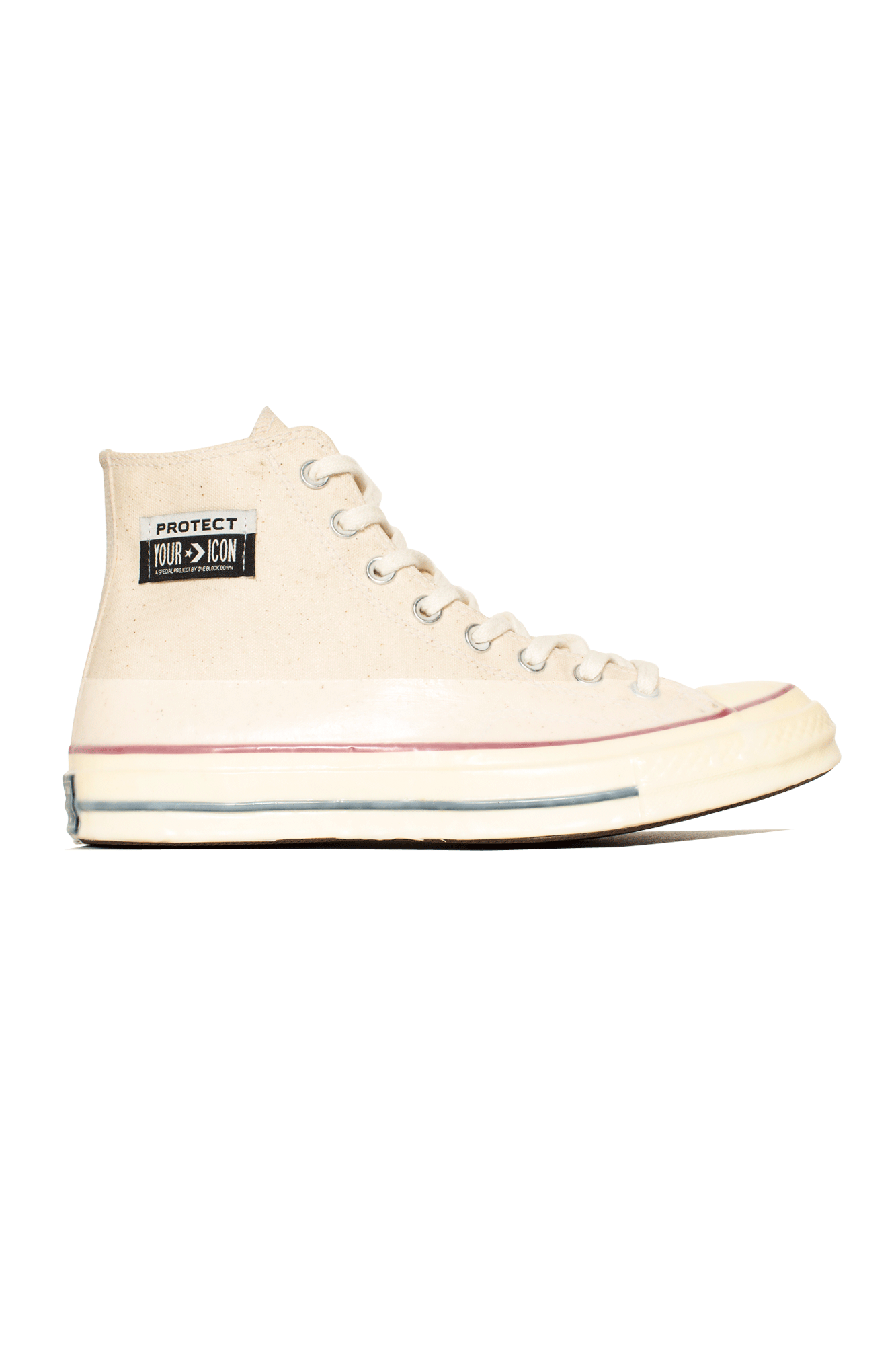 "Converse Sneakers Chuck 70 Hi x One Block Down ""Protect Your Icon"" White 162053COBD#000#PRC#4,5 - One Block Down"