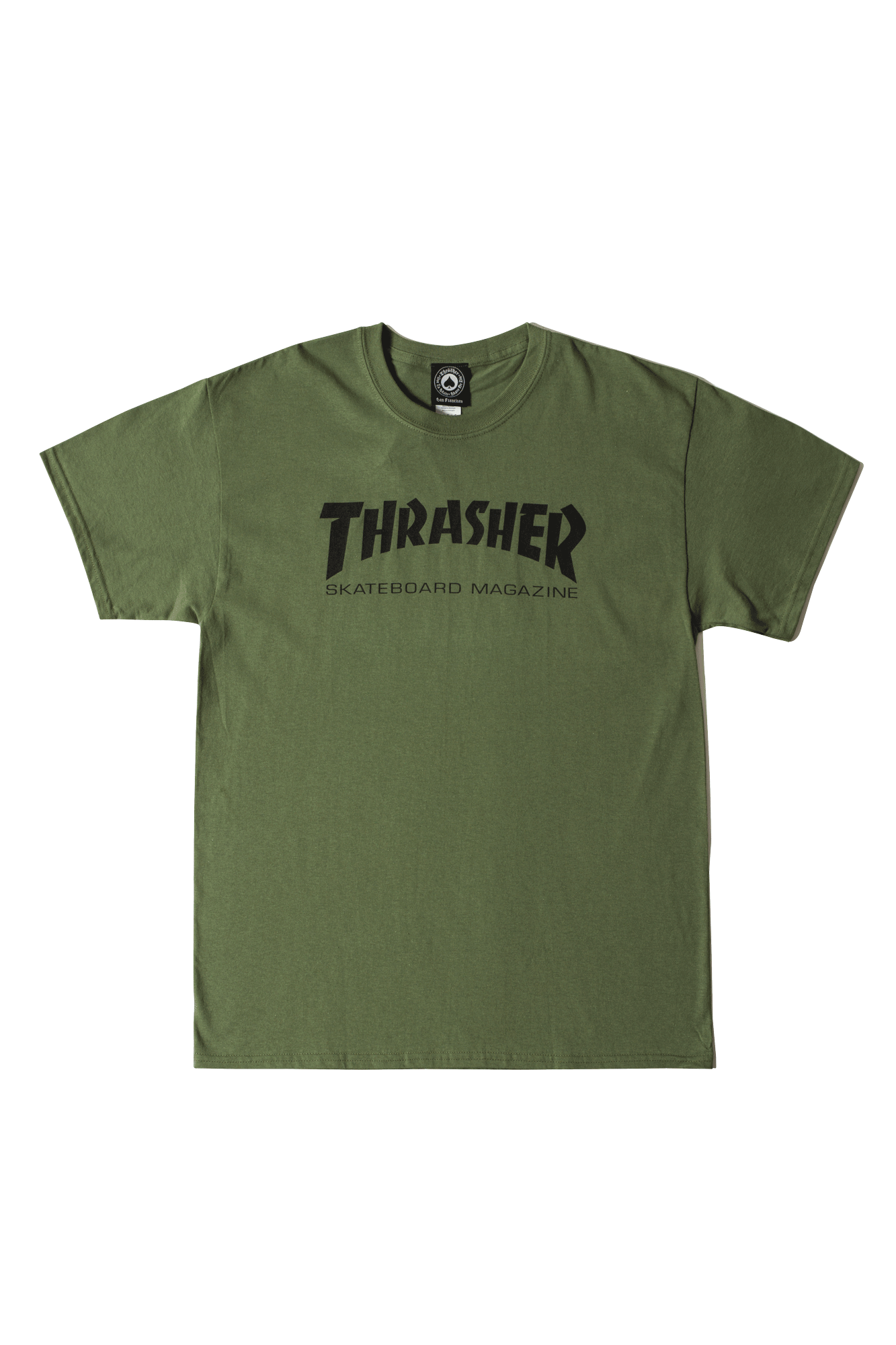 Thrasher T-Shirts Skate Mag Green 311027#000#GREEN#S - One Block Down