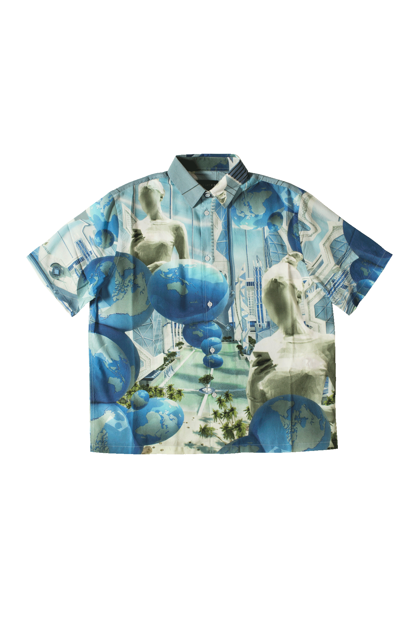 Blue Planet SS Shirt Blue