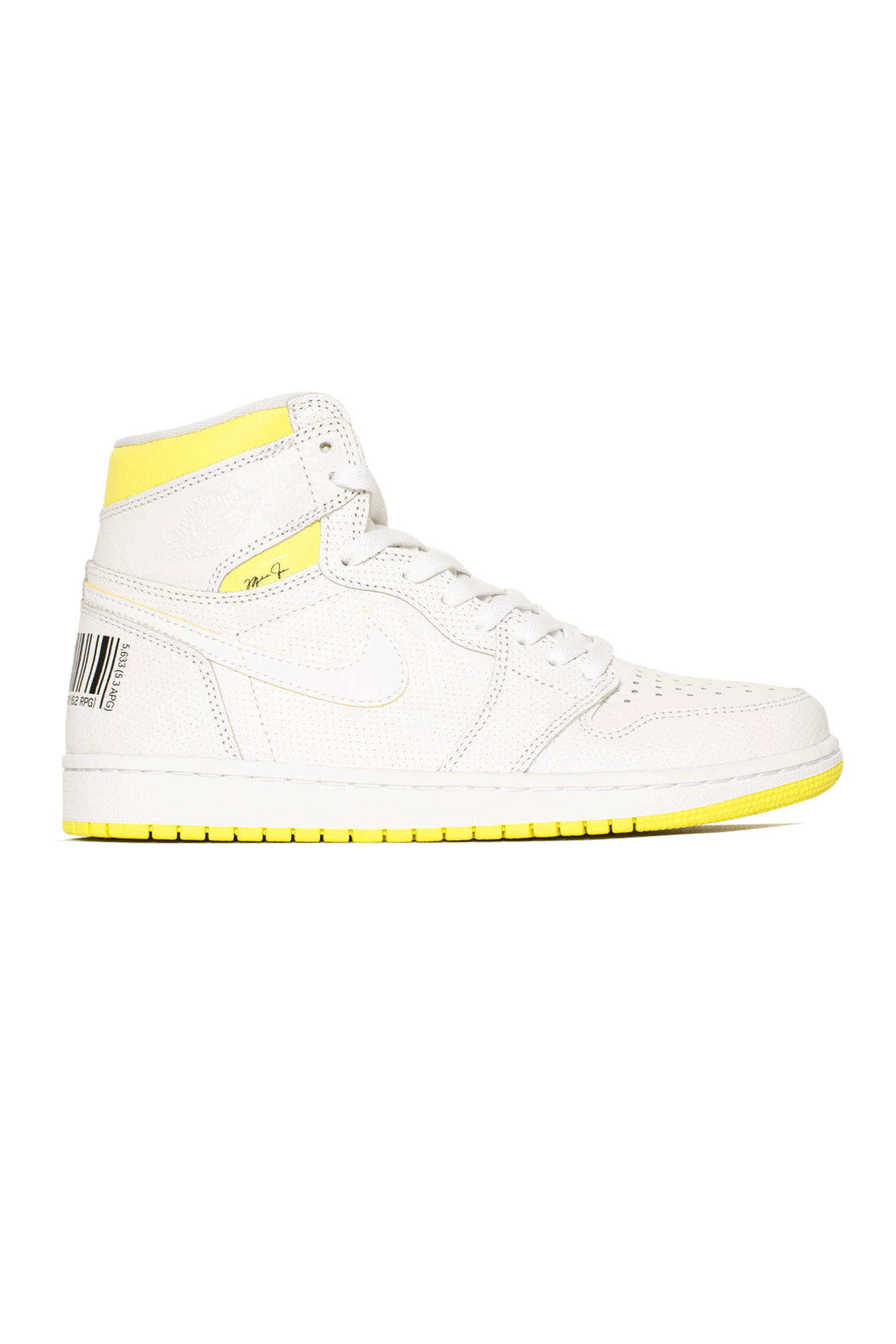 "Air Jordan Sneakers 1 Retro High OG ""First Class Flight"" White 555088#000#170#7 - One Block Down"