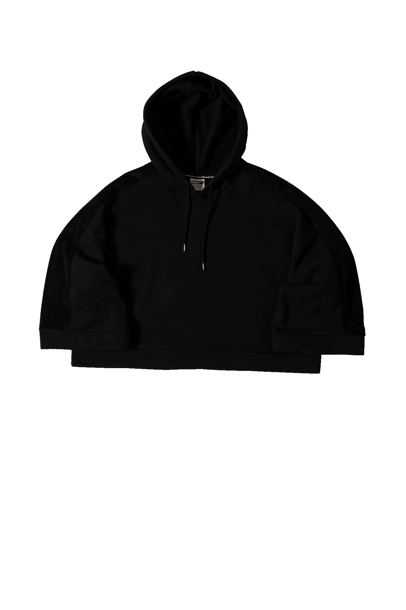 Xtreme Cropped Hooded sweatshirt Black