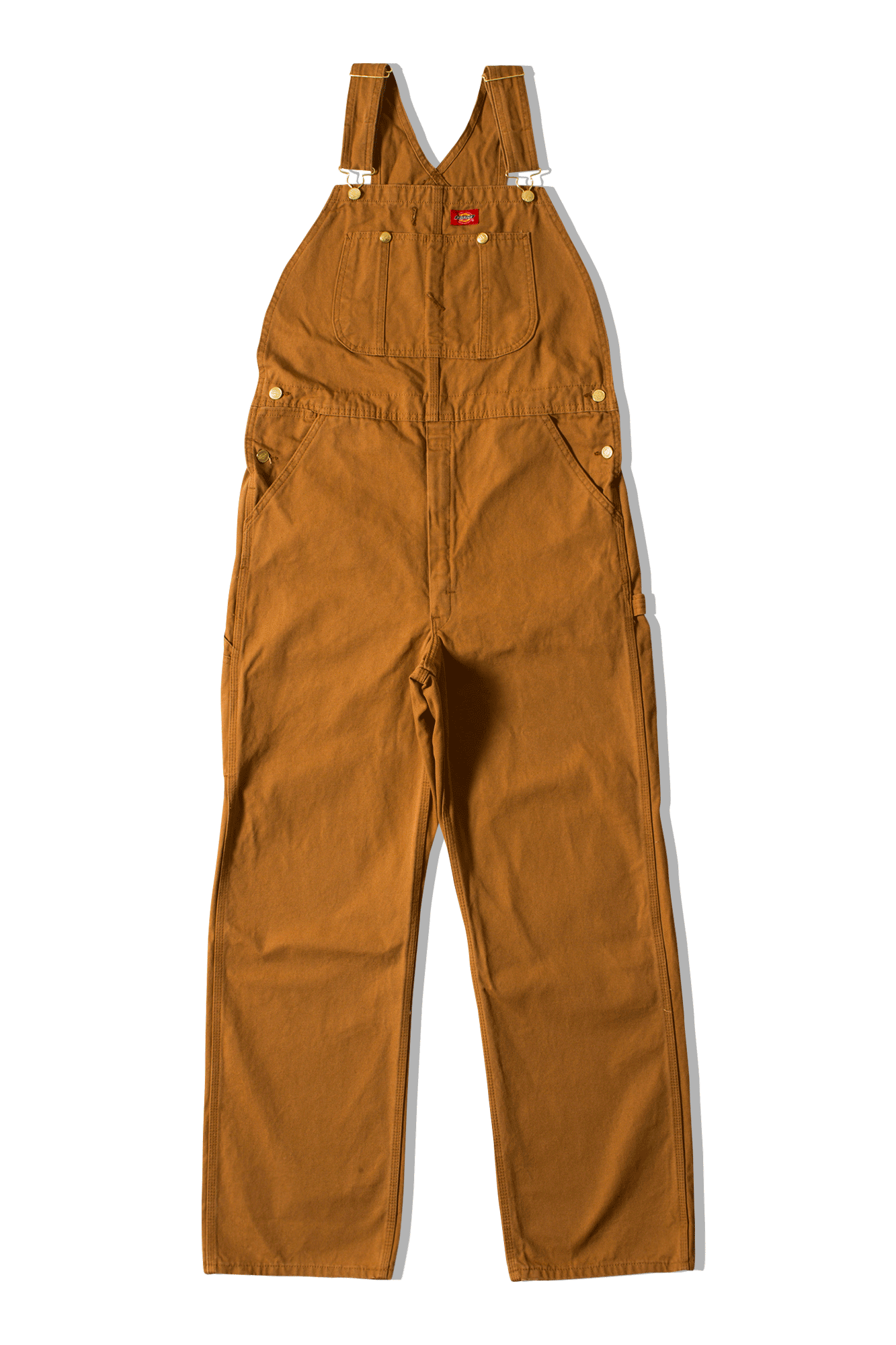 Dickies Salopette Bib Overall Brown 681190067#000#RBD#27 - One Block Down