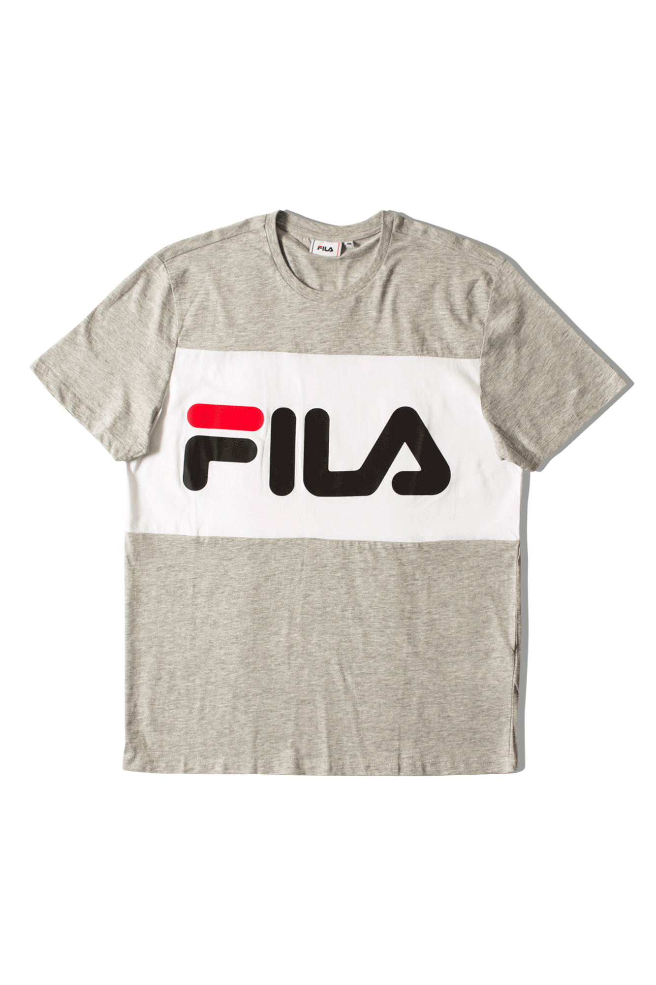 Fila T-Shirts Day Tee Grey 681244A068#000#C0009#XS - One Block Down