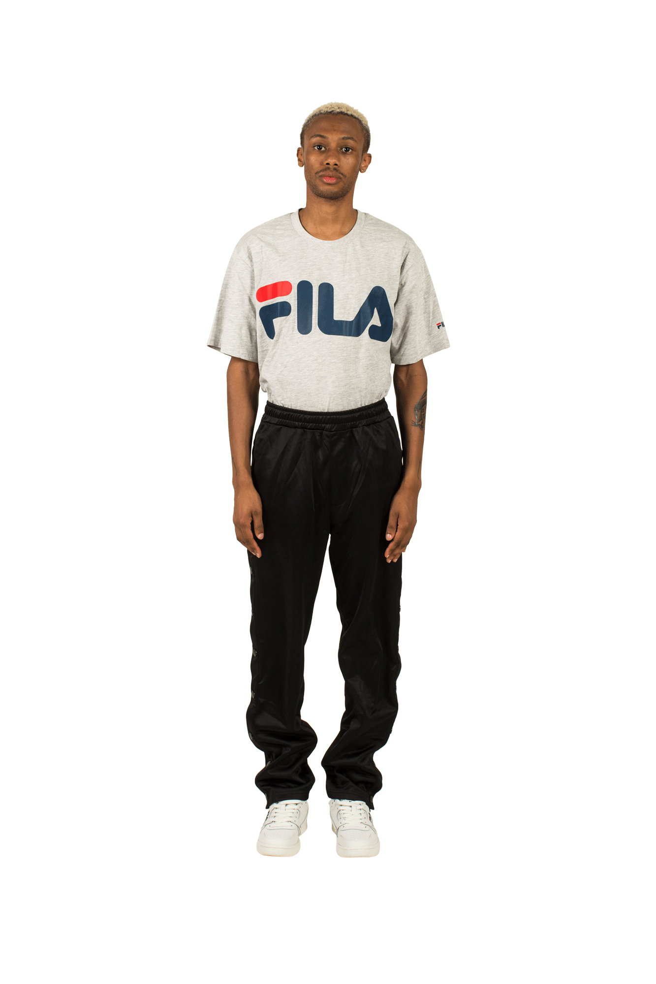 Fila Sweatpants Naolin Track Pants Buttoned Black 682354002#000#C0010#XS - One Block Down