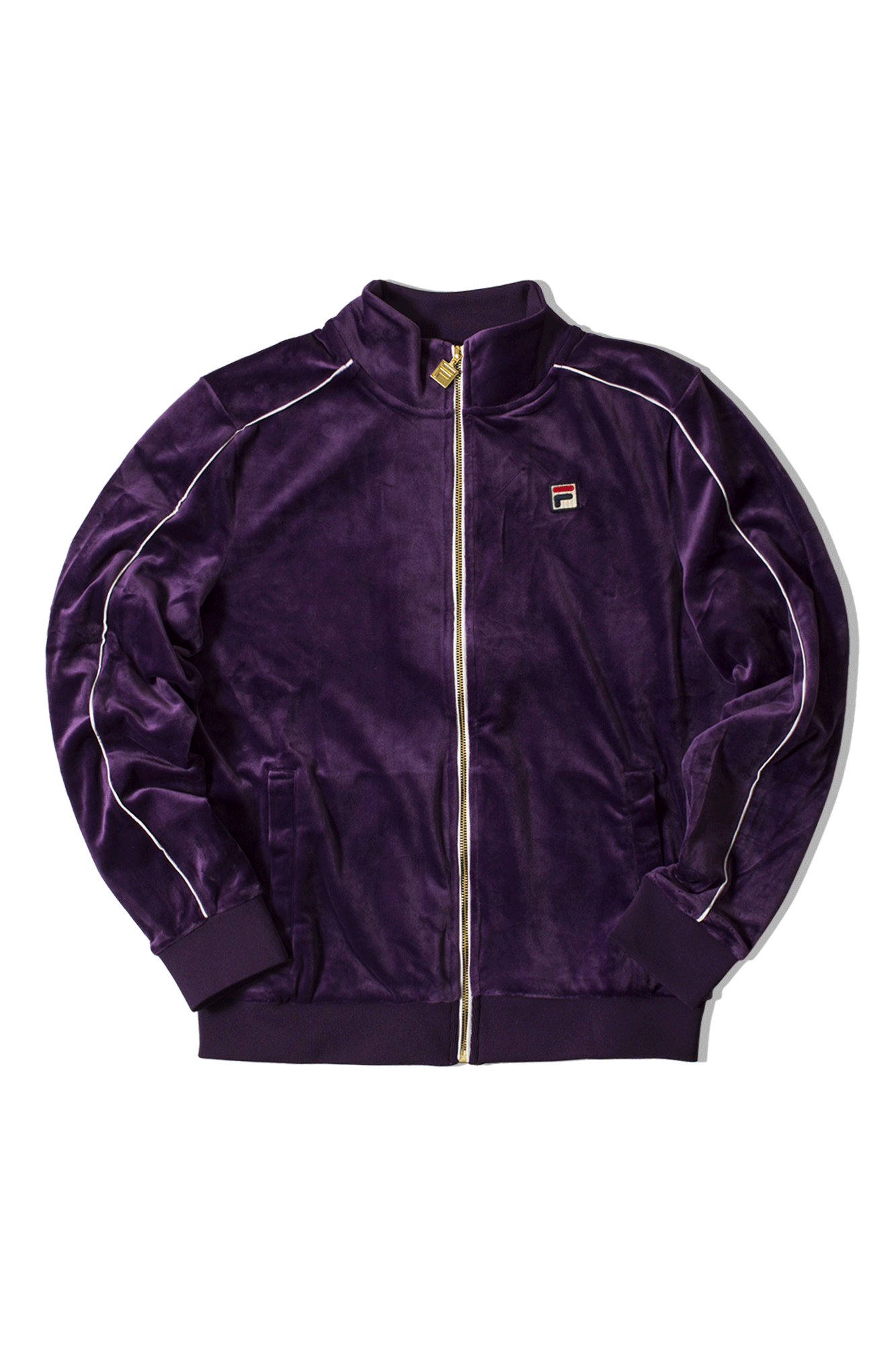 Linker Velour Track Jacket Purple
