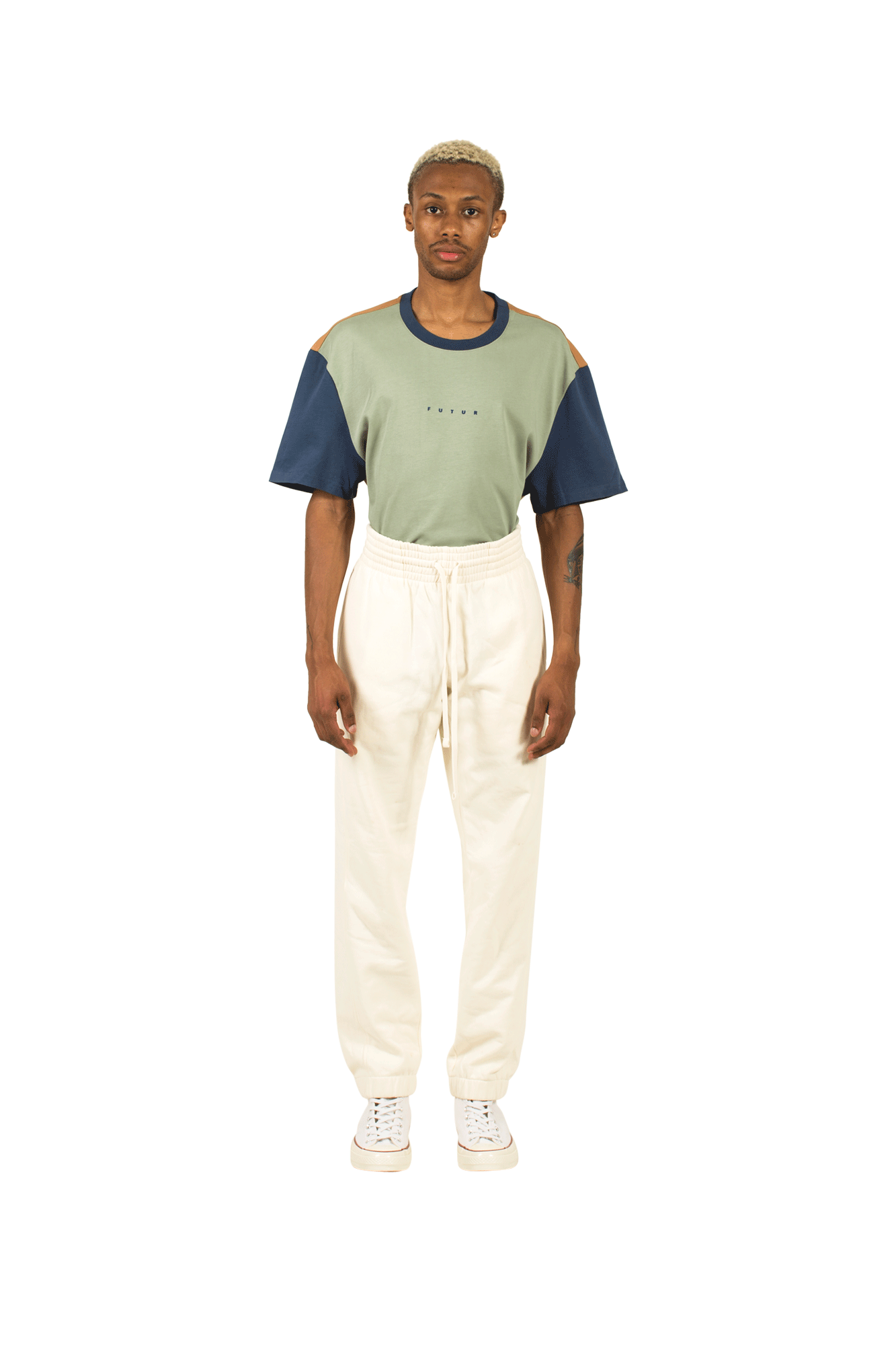 Sweatpants Futur Inc Sparring Sweatpant White - One Block Down