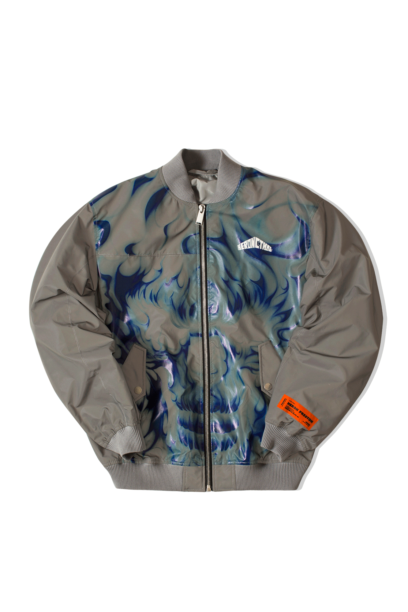 Skull Reflective Ice Bomber Grey