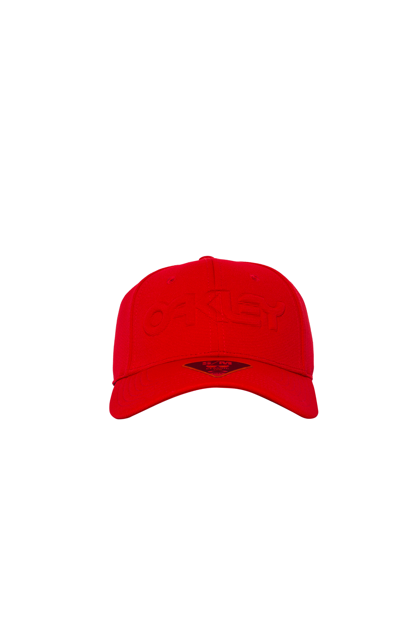 6 Panel Strech Hat Embossed Red