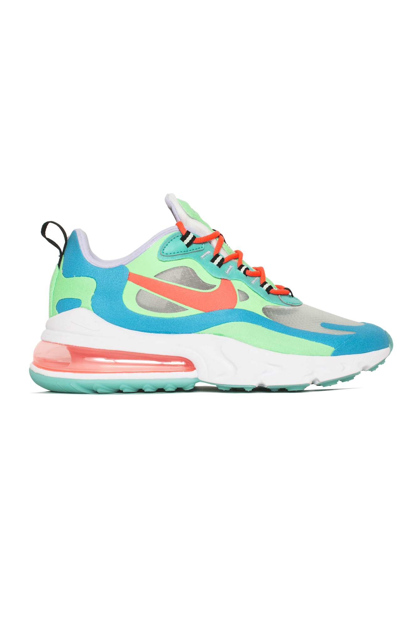 Nike red and pink Air Max 270 React sneakers