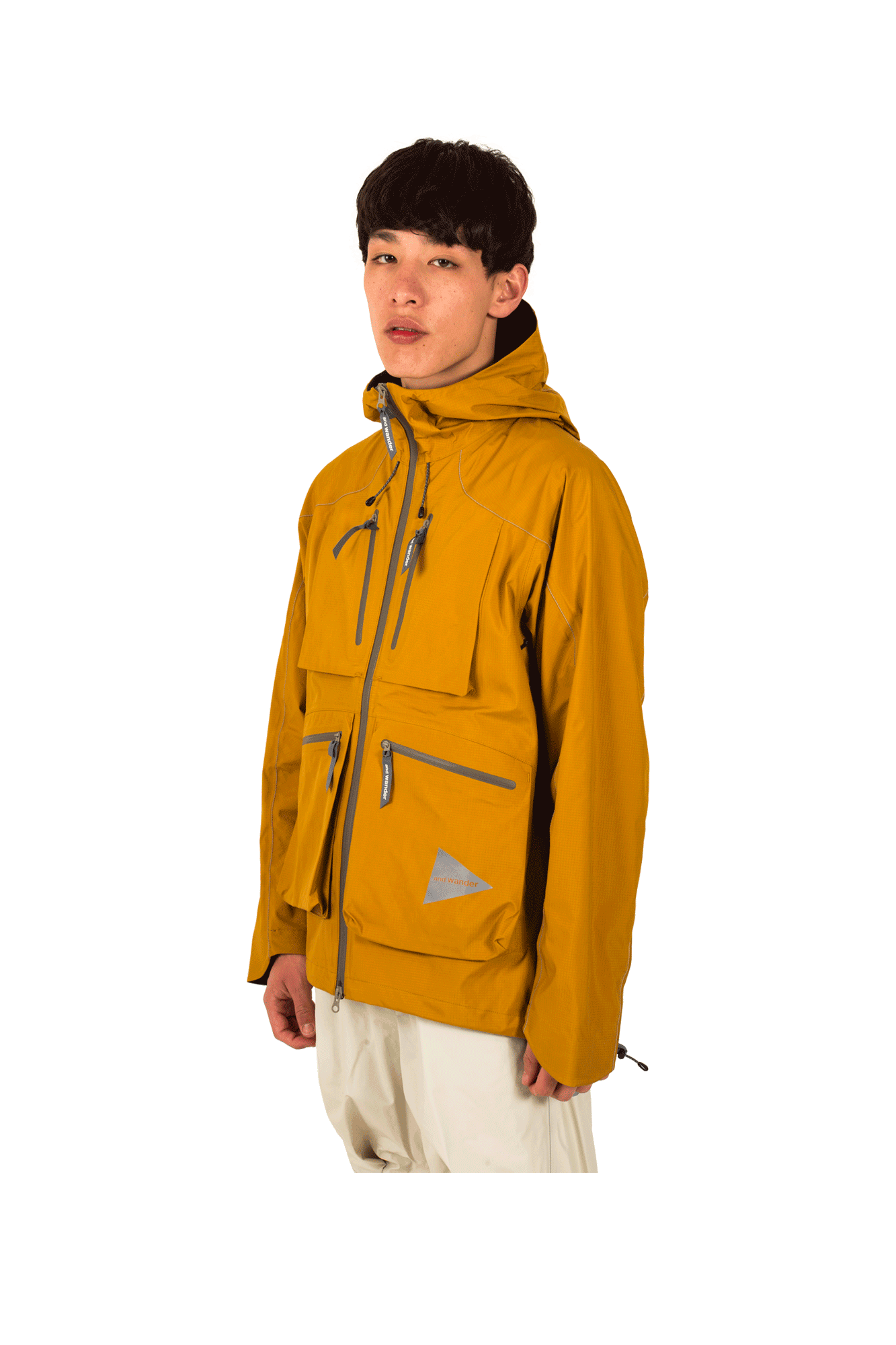 And Wander Coats & Jackets E Vent Pocket Rain Jkt Yellow AW91-FT001#000#YLW#3 - One Block Down