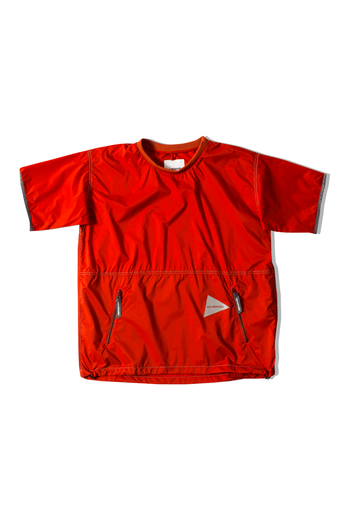 And Wander T-Shirts Pertex Wind Tee Orange AW91-FT626#000#ORA#0 - One Block Down
