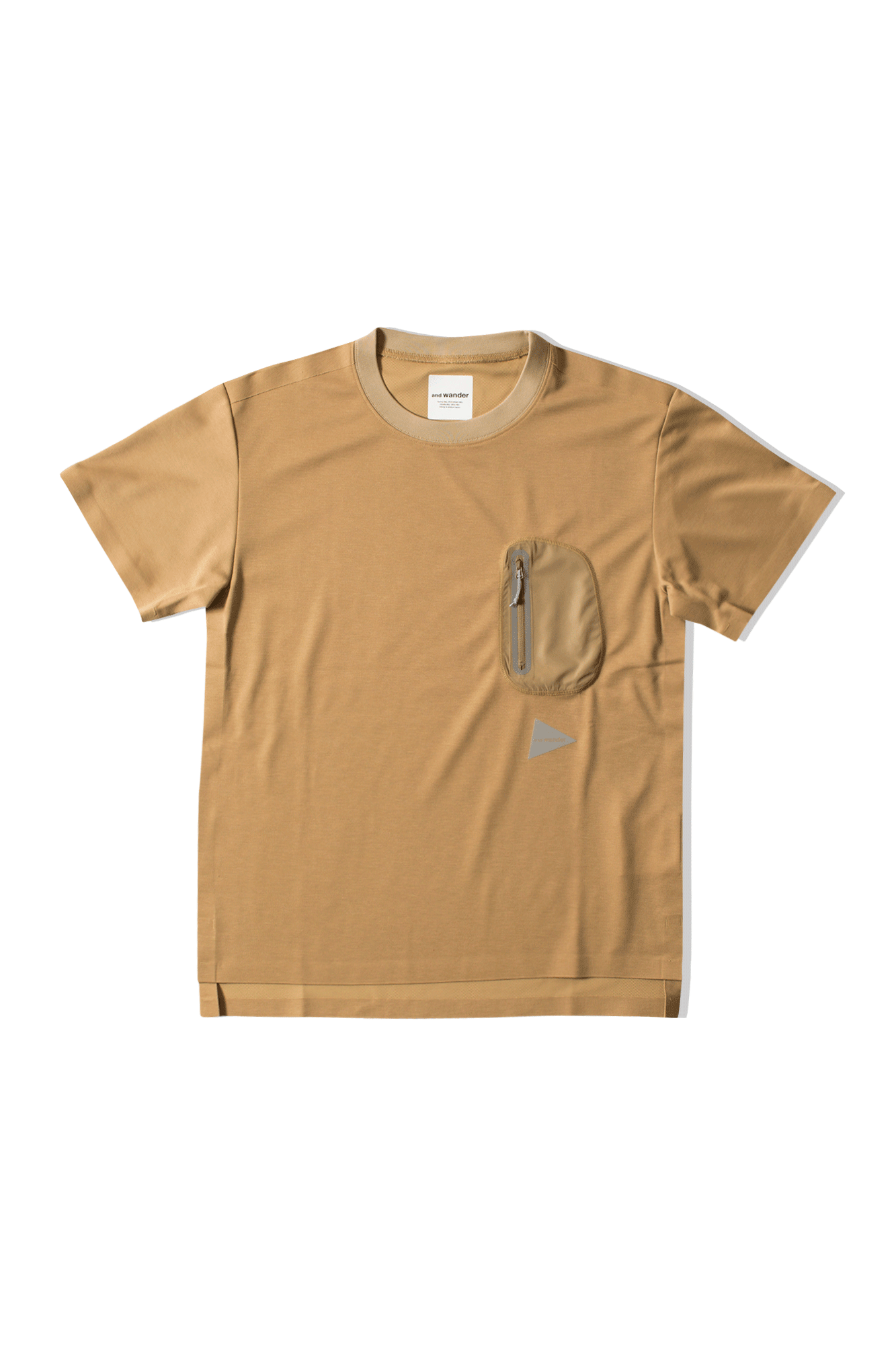 And Wander T-Shirts Seamless Tee Neutrals AW91-JT628#000#BEIGE#0 - One Block Down