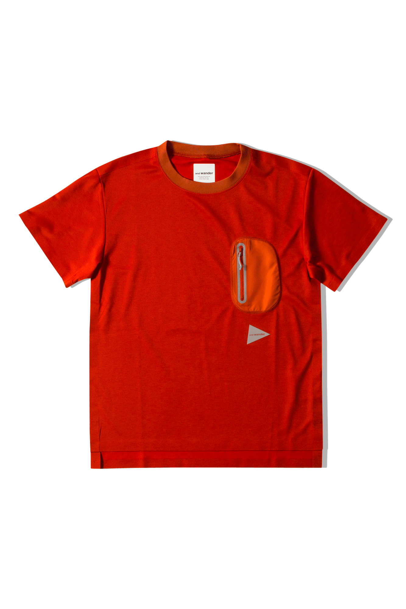 And Wander T-Shirts Seamless Tee Red AW91-JT628#000#RED#0 - One Block Down