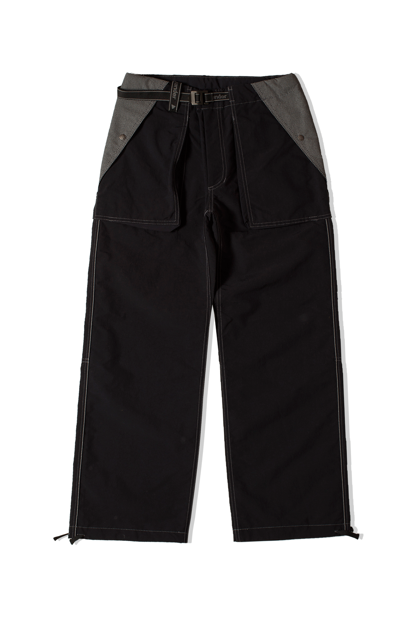 Taslan Nylon Pants Black
