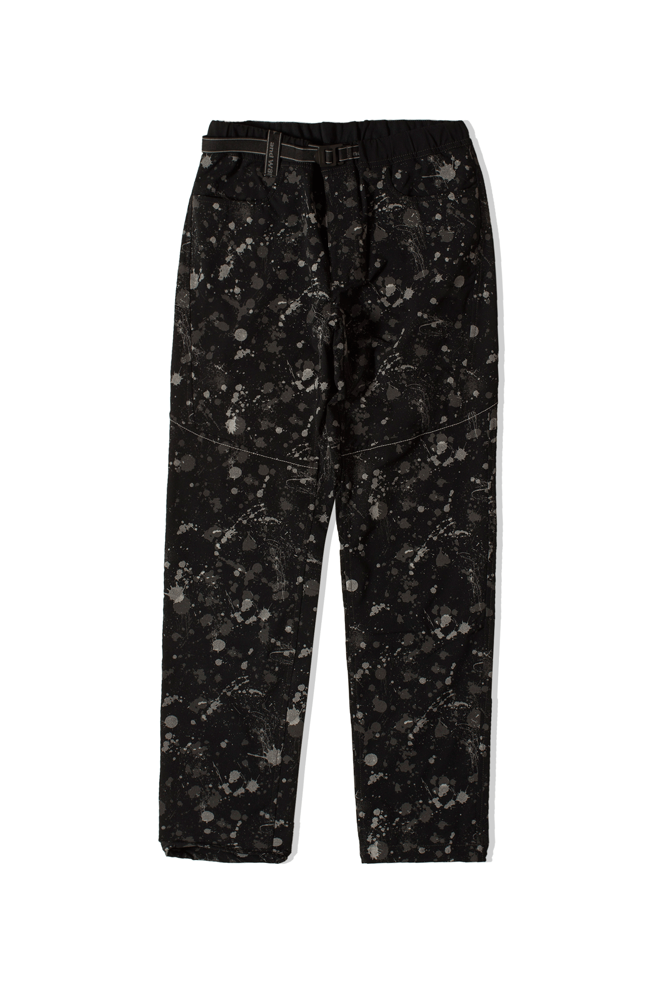 Splatter Print Dry Stretch Pants Black