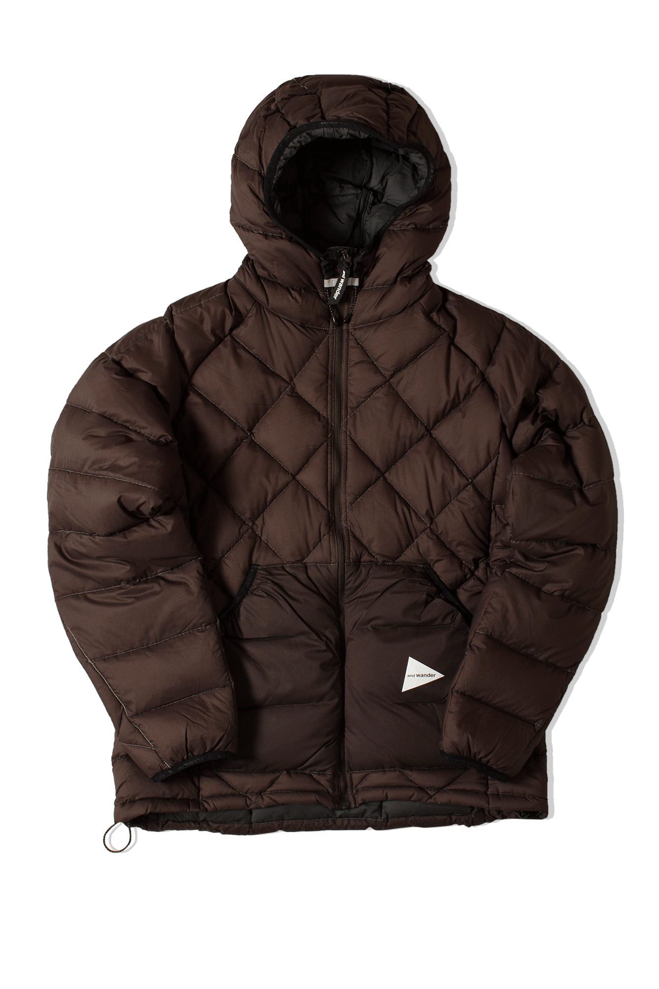 Diamond Stitch Down Jacket Brown