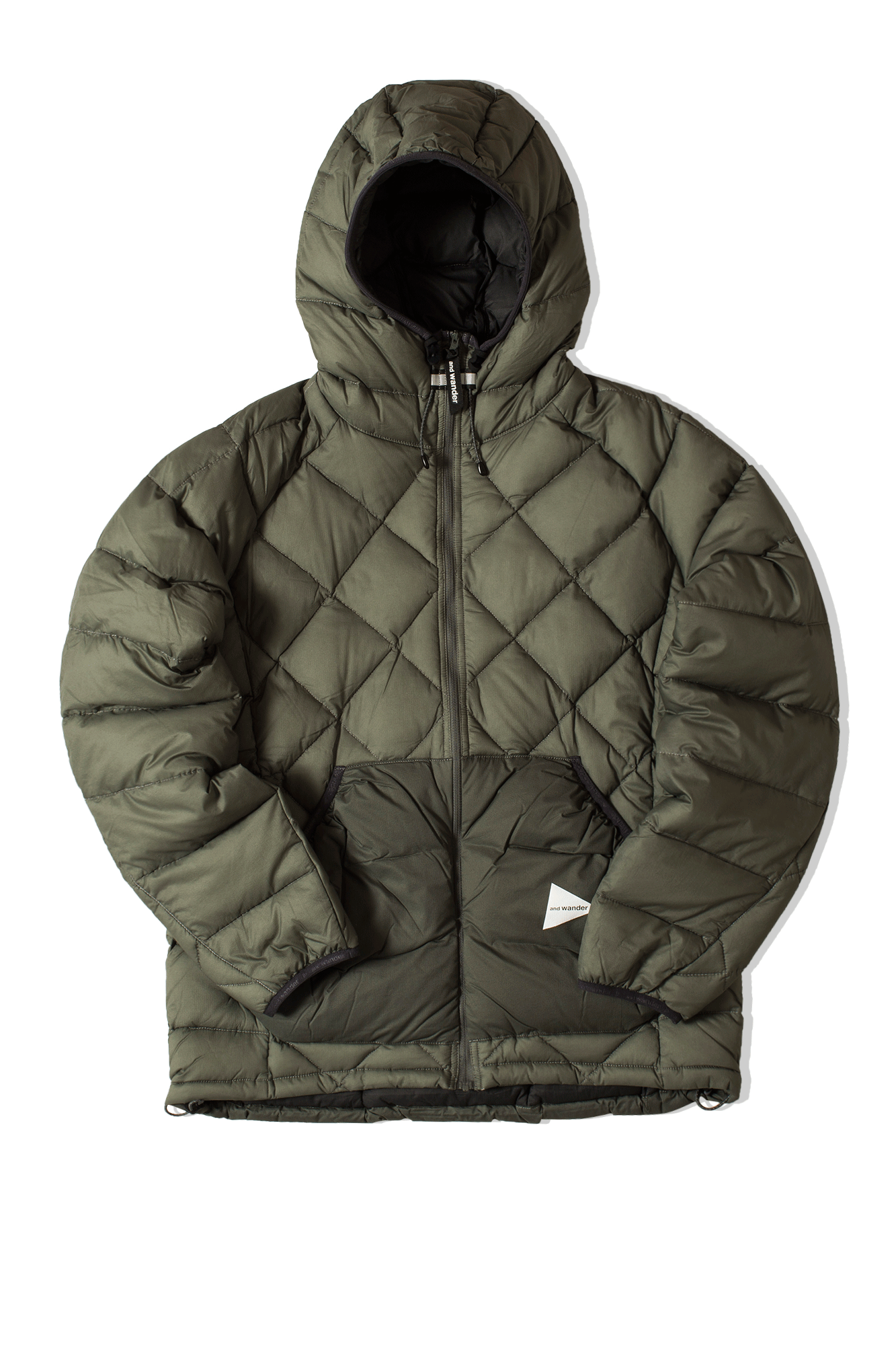 Diamond Stitch Down Jacket Grey