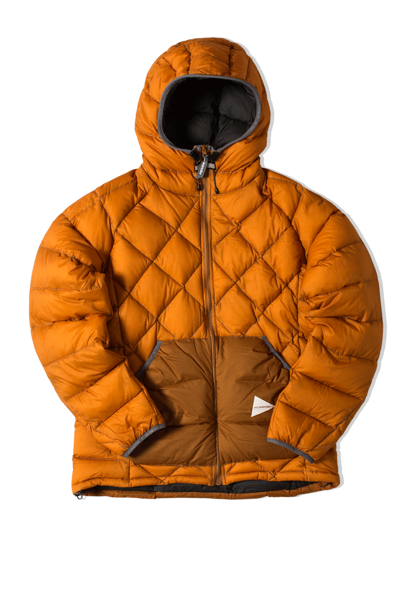 Diamond Stitch Down Jacket Orange