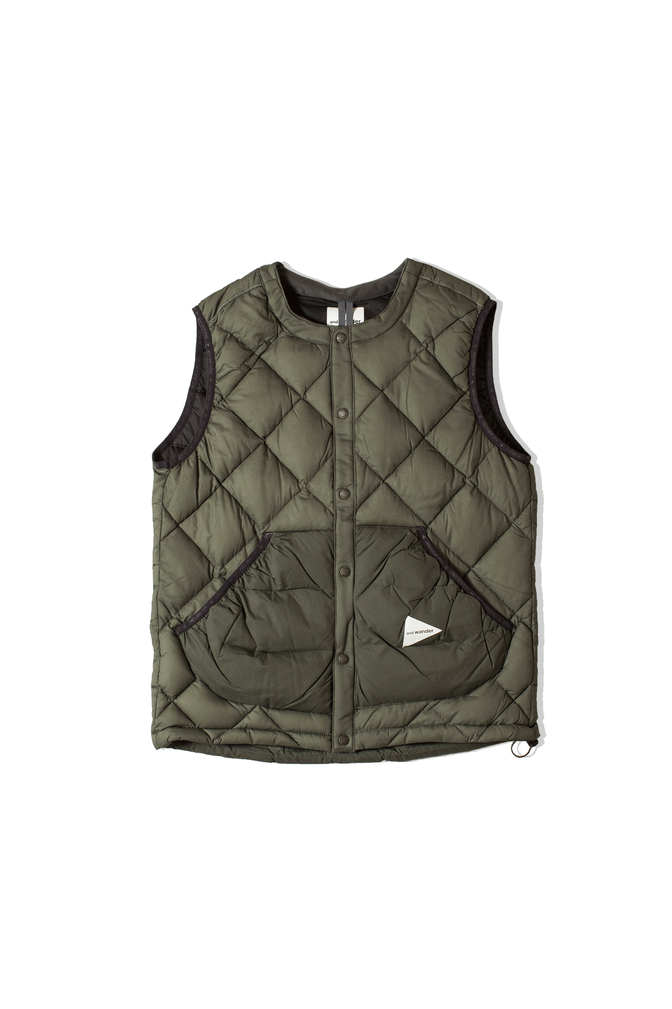 Diamond Stitch Down Vest Grey
