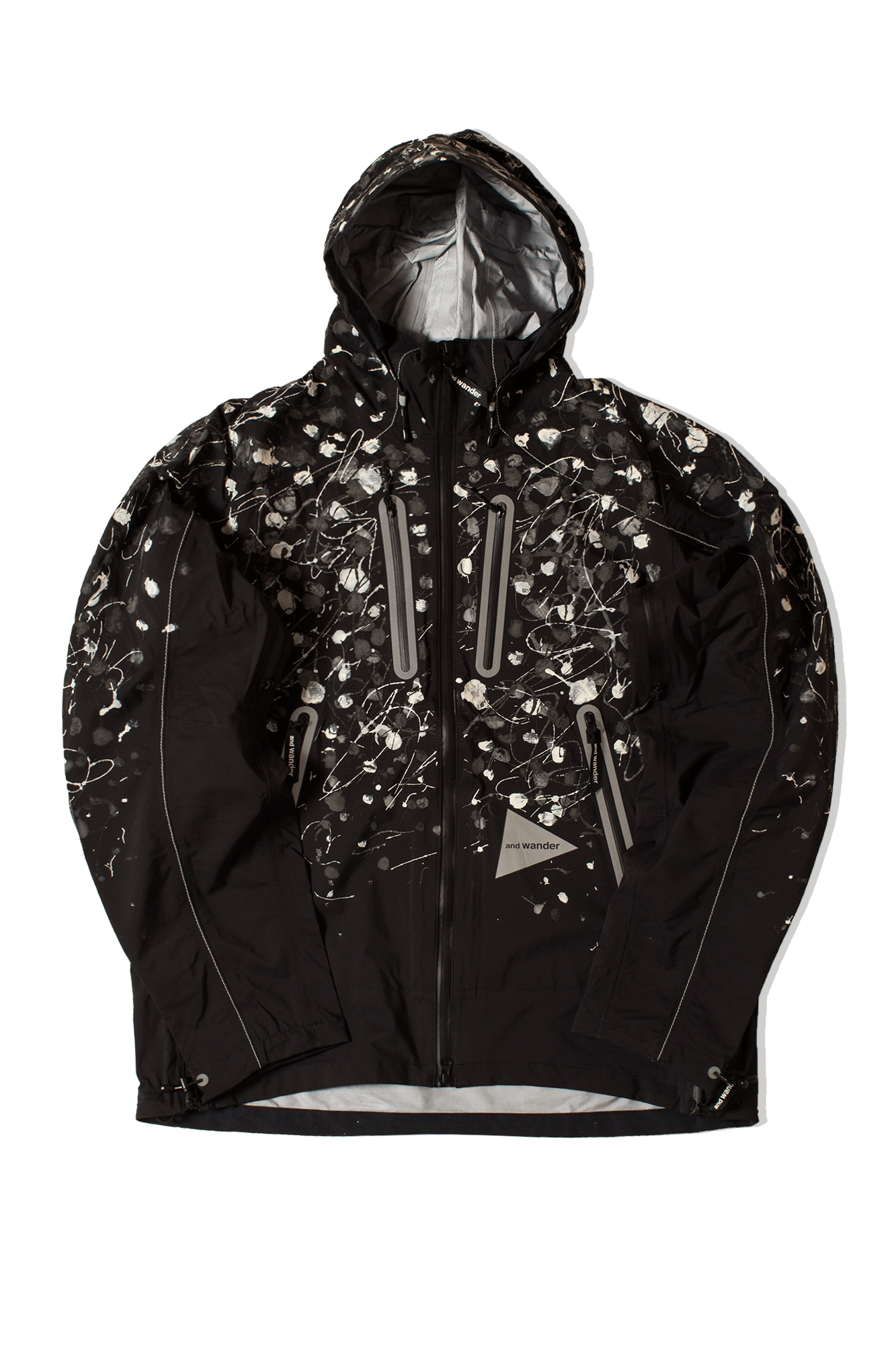 Splatter Hand Paint E Vent Jacket Black