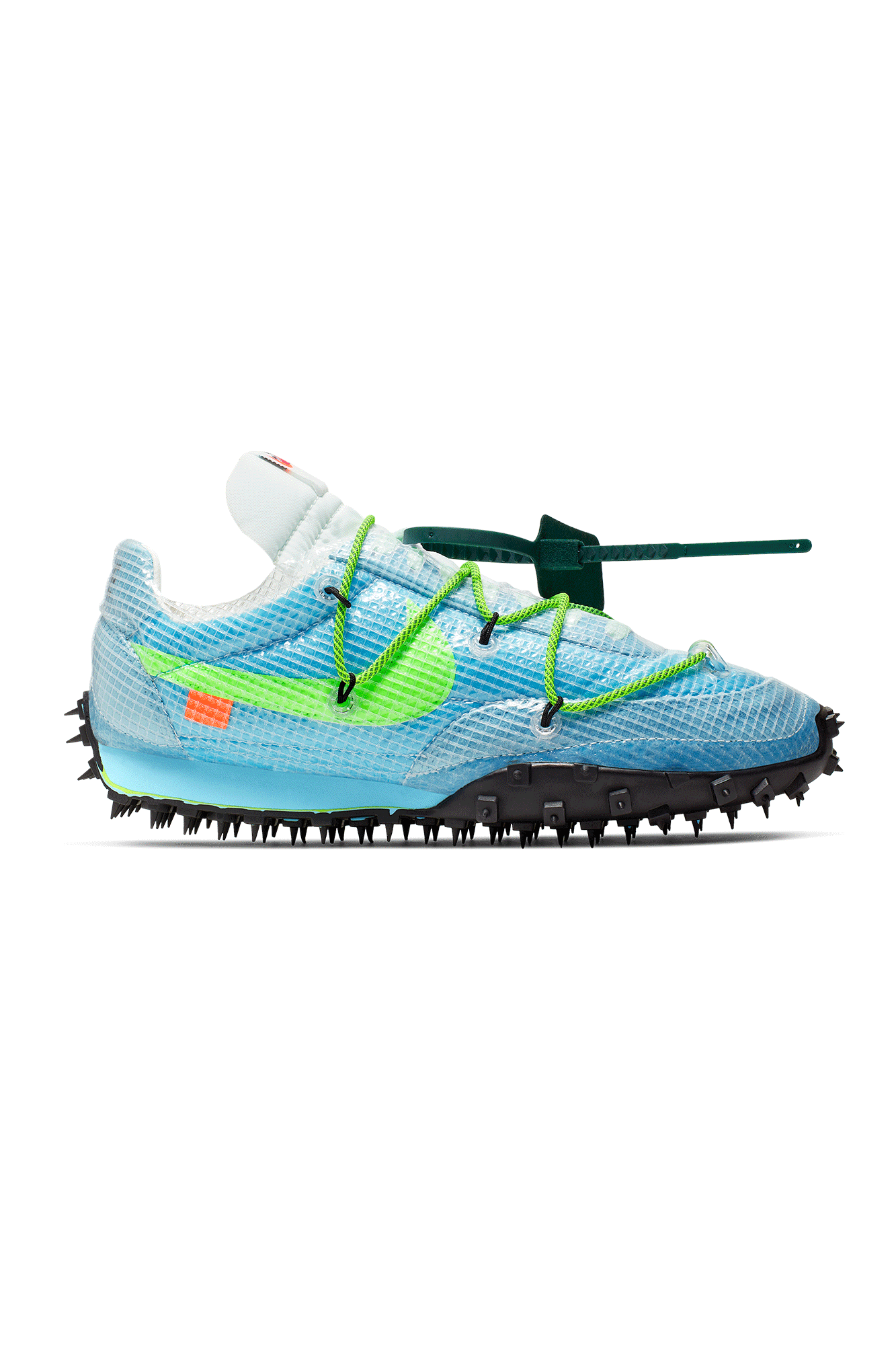 Nike Sneakers WMNS Waffle Racer x Off White Blue CD8180 #000