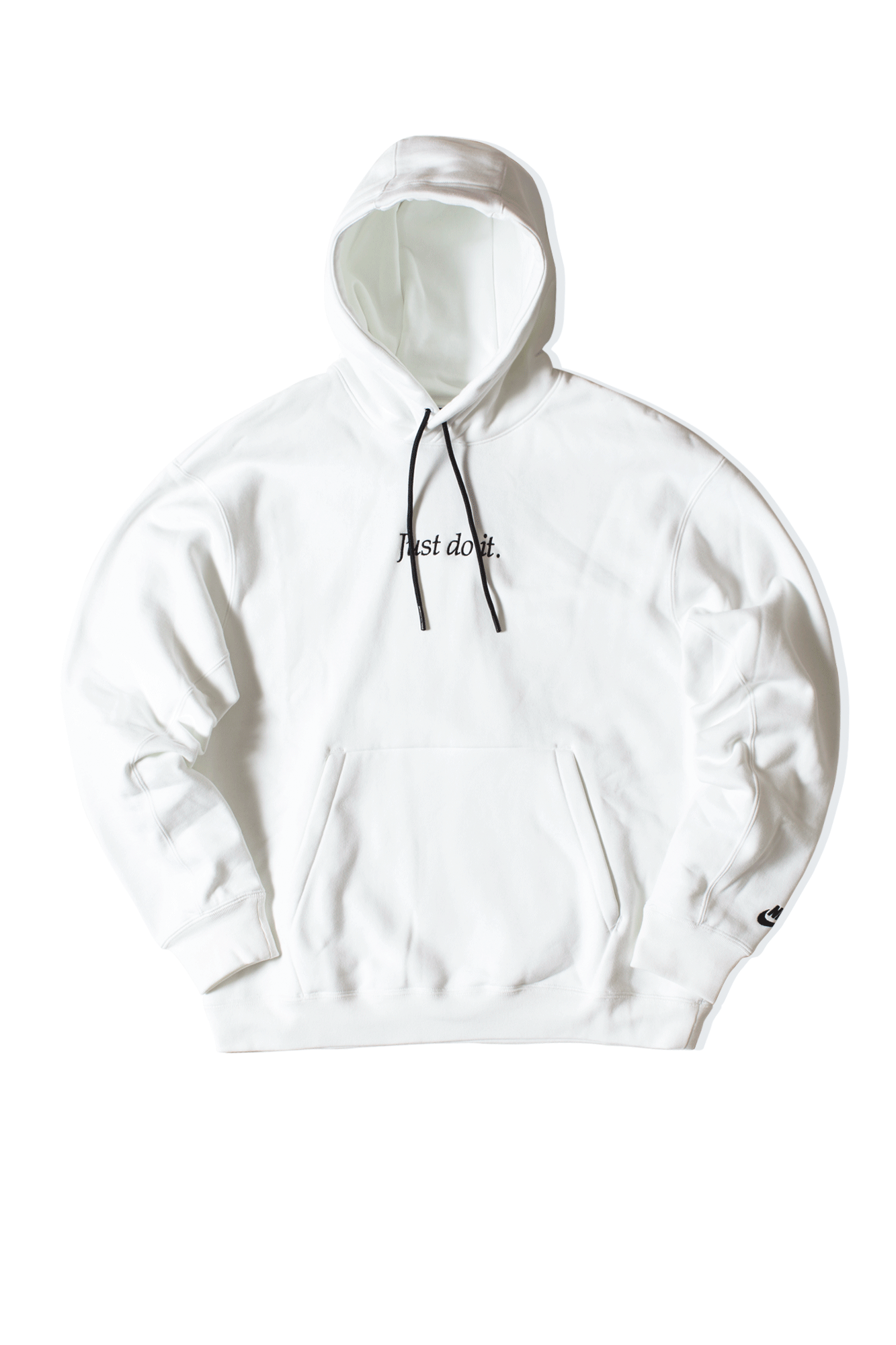 Just Do It Fleece Hoodie White