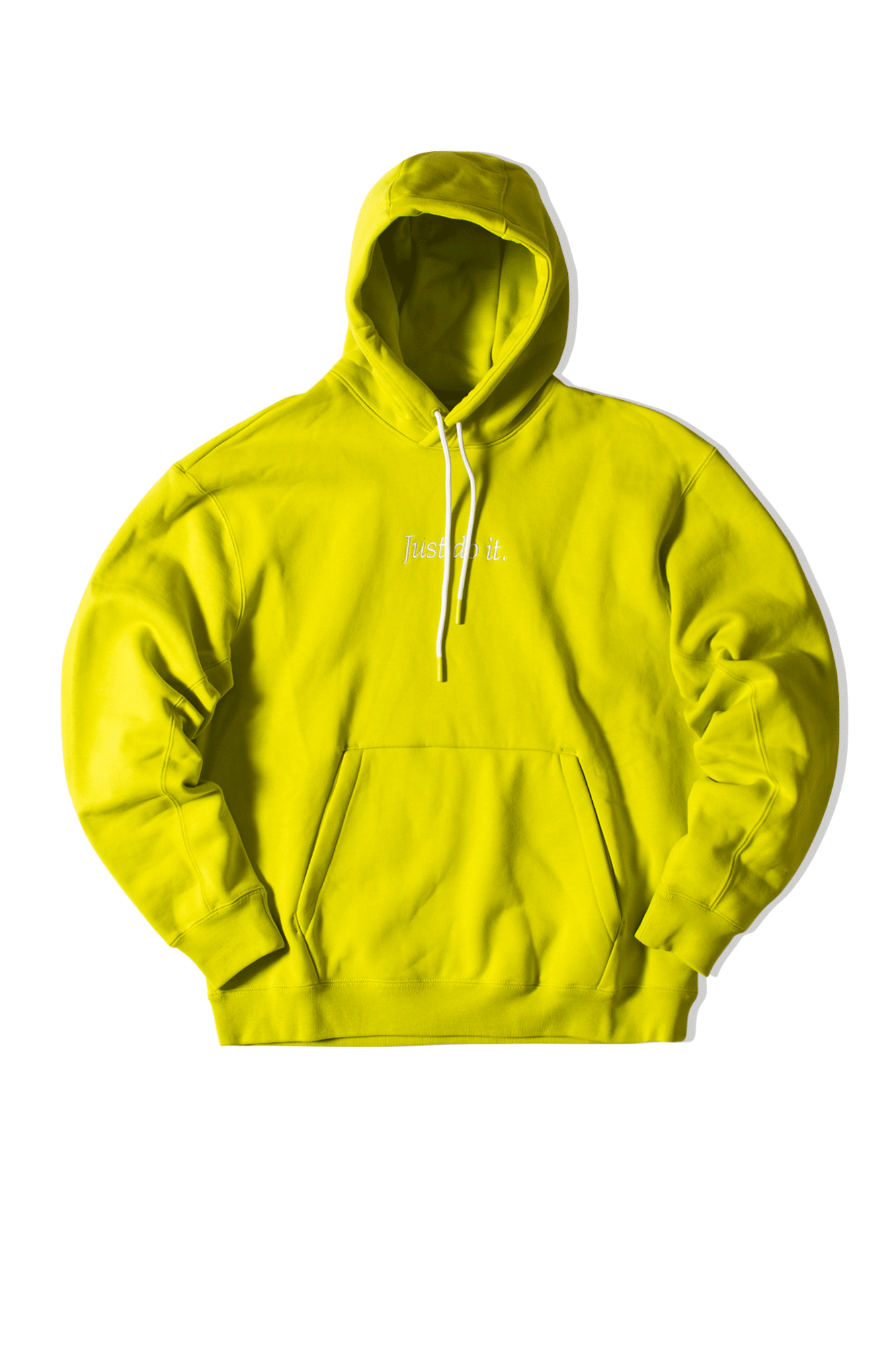 Just Do It Fleece Hoodie Yellow