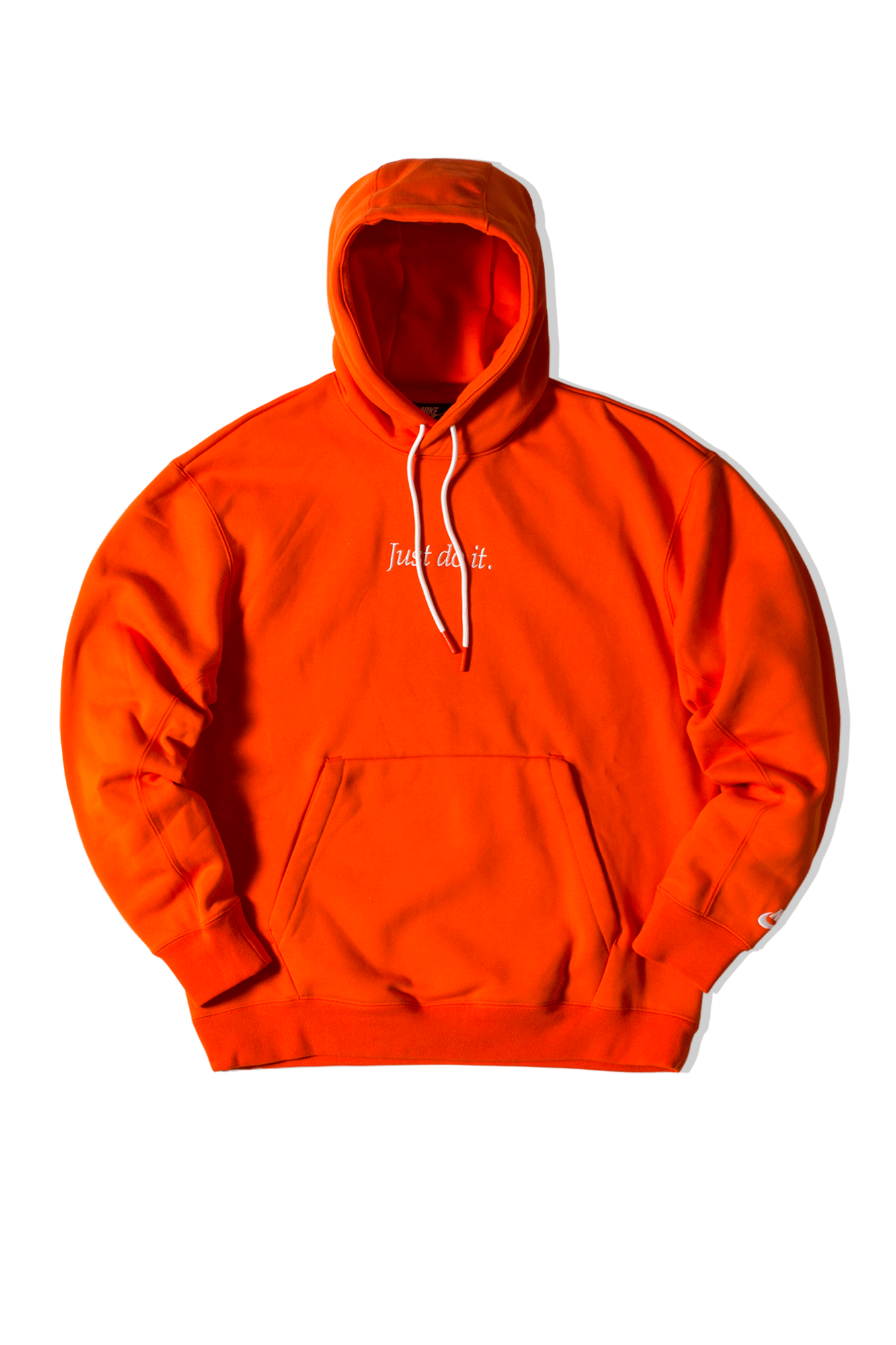 Just Do It Fleece Hoodie Orange