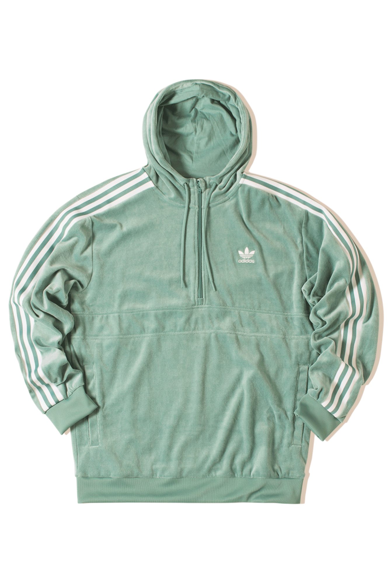 Adidas Originals Sweaters Cozy Halfzip Green DV1624#000#C0013#XS - One Block Down