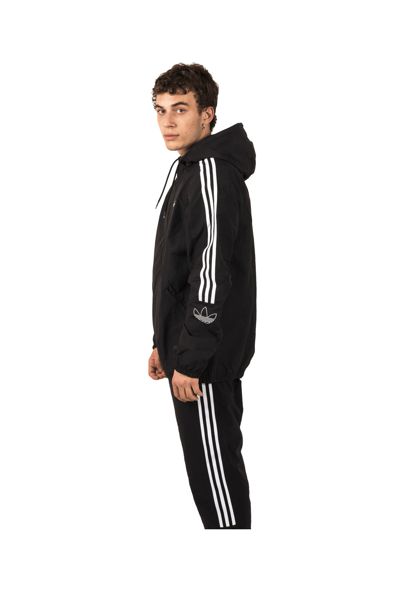 Adidas Originals Sweaters Outline TRF WB Jacket Black ED4688#000#Black#S - One Block Down