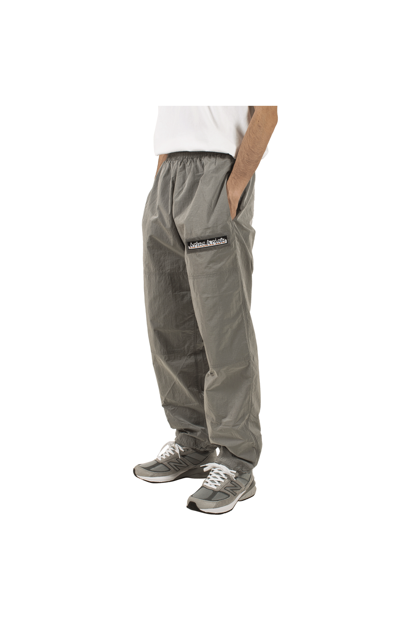 GARMENT DYED TRACK PANTS Grey