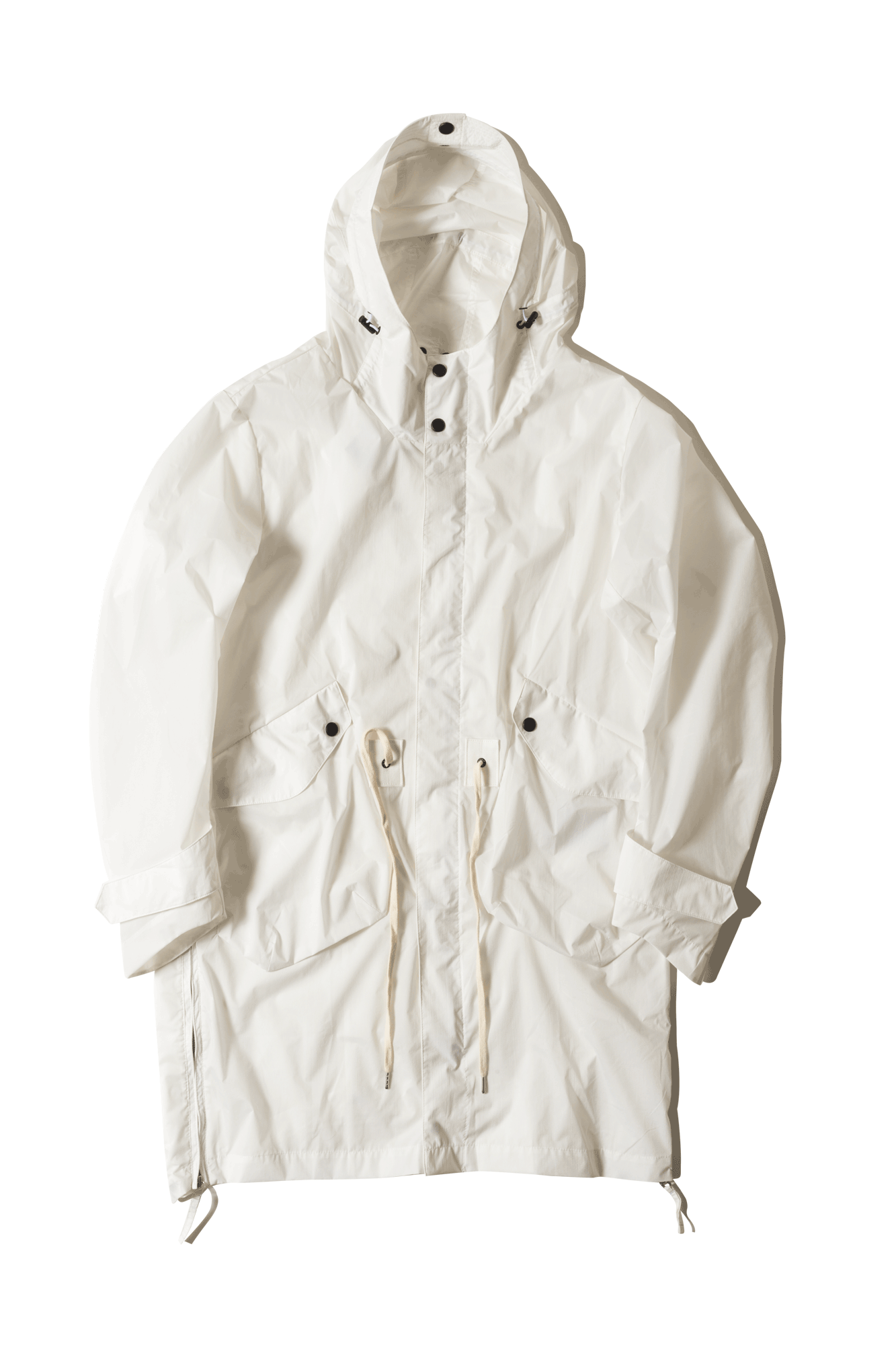 Nilmance Coats & Jackets Water Repellent Fishtail Jacket White FW17PK06#000#WHITE#XS - One Block Down