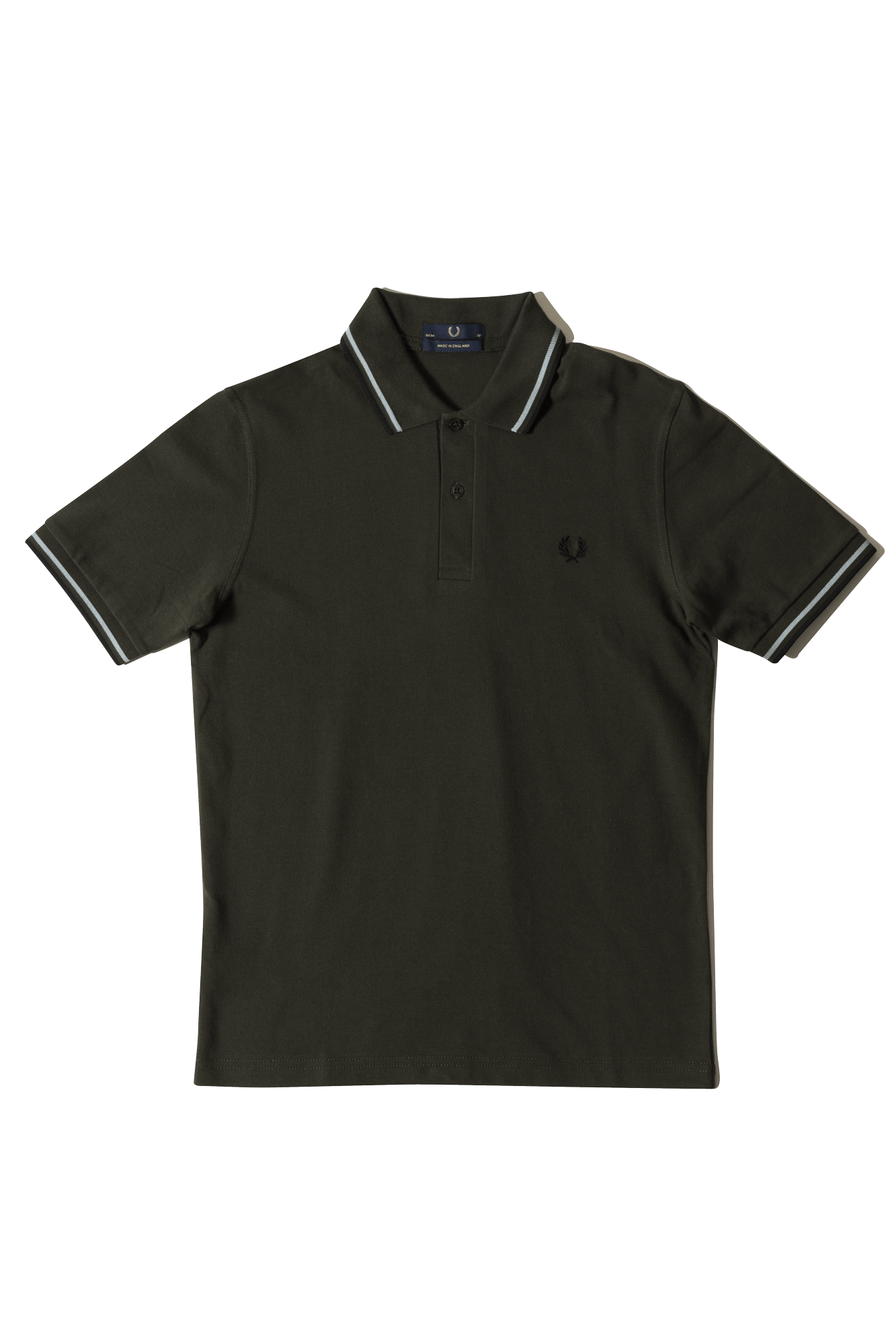 Fred Perry Polo Twin Tipped Fred Perry Shirt Green M12408#000#C0013#44 - One Block Down