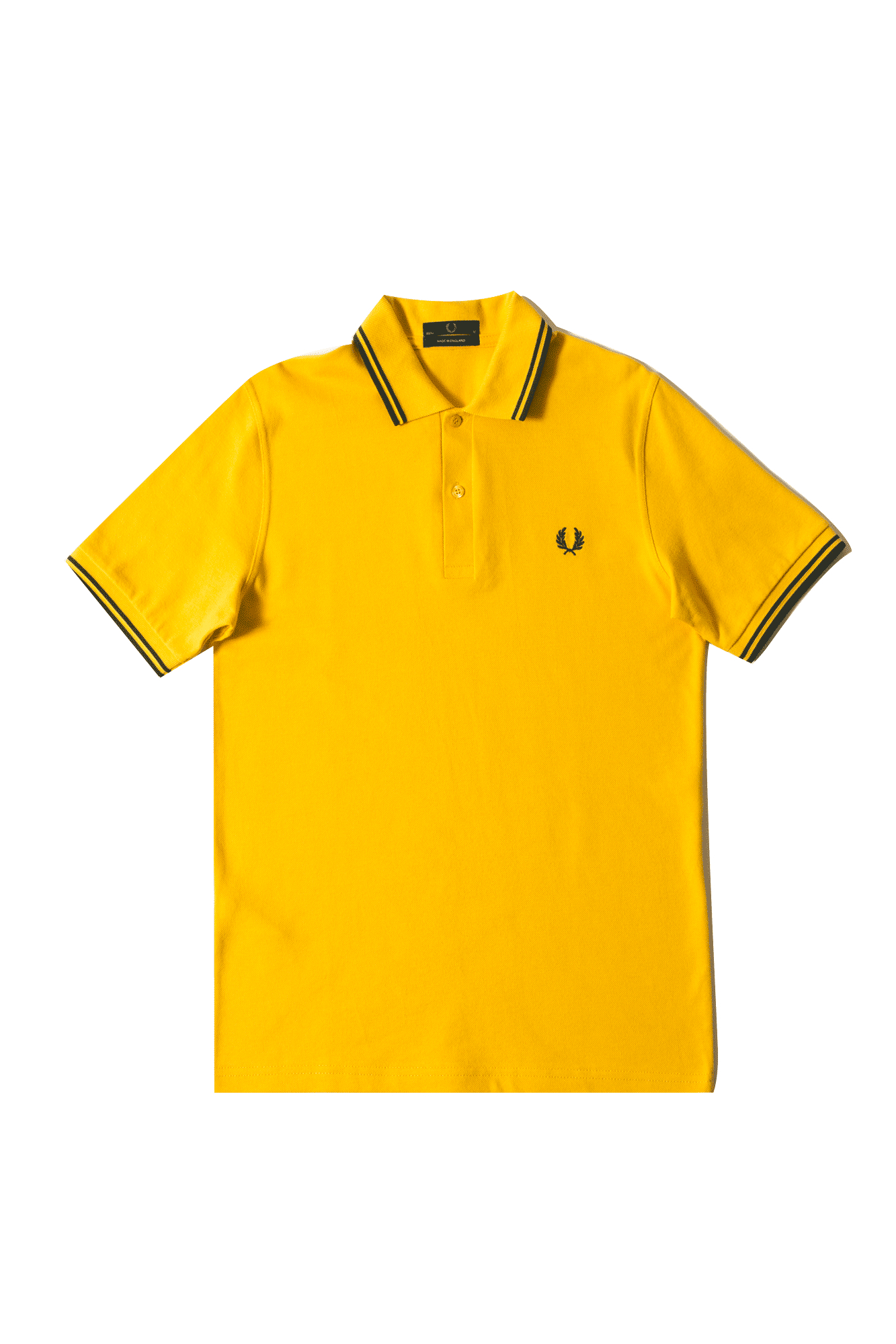 Fred Perry Polo Twin Tipped Shirt Yellow M12971#000#C0008#44 - One Block Down