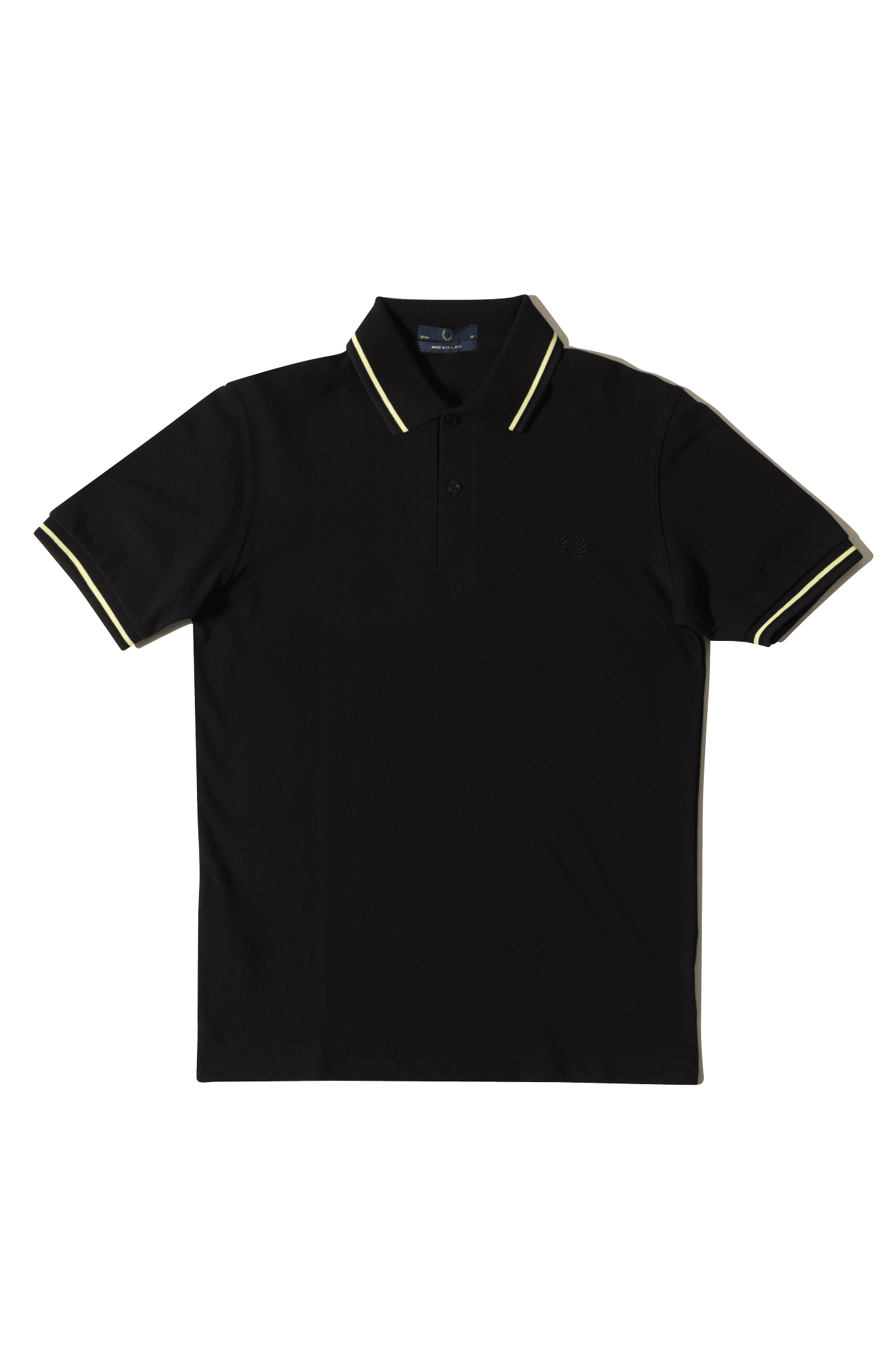 Fred Perry Polo Twin Tipped Fred Perry Shirt Black M12E75#000#C0010#44 - One Block Down